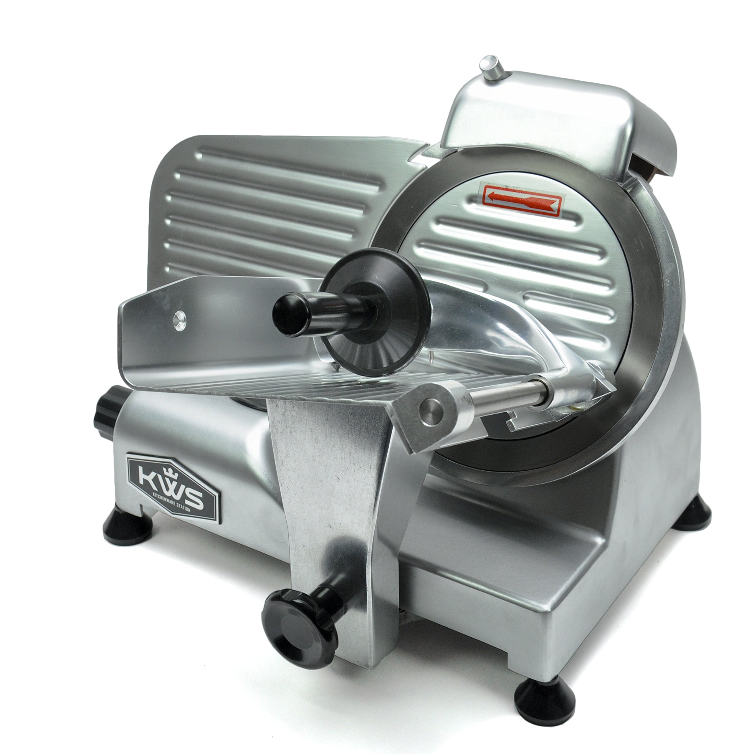 KWS Premium 200w Electric Meat Slicer 6'' Frozen Meat Deli Slicer Coffee Shop/restaurant and Home Use Low Noises (Silver)