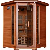 3-Person Cedar Corner Infrared Sauna w/ 7 Carbon Heaters