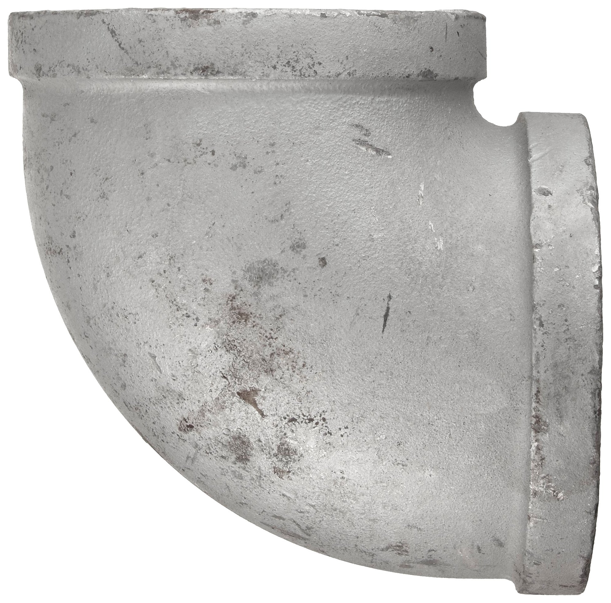 Anvil 8700124400, Malleable Iron Pipe Fitting, 90 Degree Elbow, 2'' NPT Female, Galvanized Finish