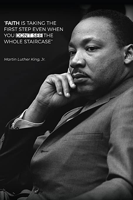 Amazoncom Martin Luther King Jr Poster Featuring Famous Quote