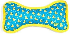 The Worthy Dog Yellow Rubber Duck Ducky Bubble Bath Plush Bone Chew Toy
