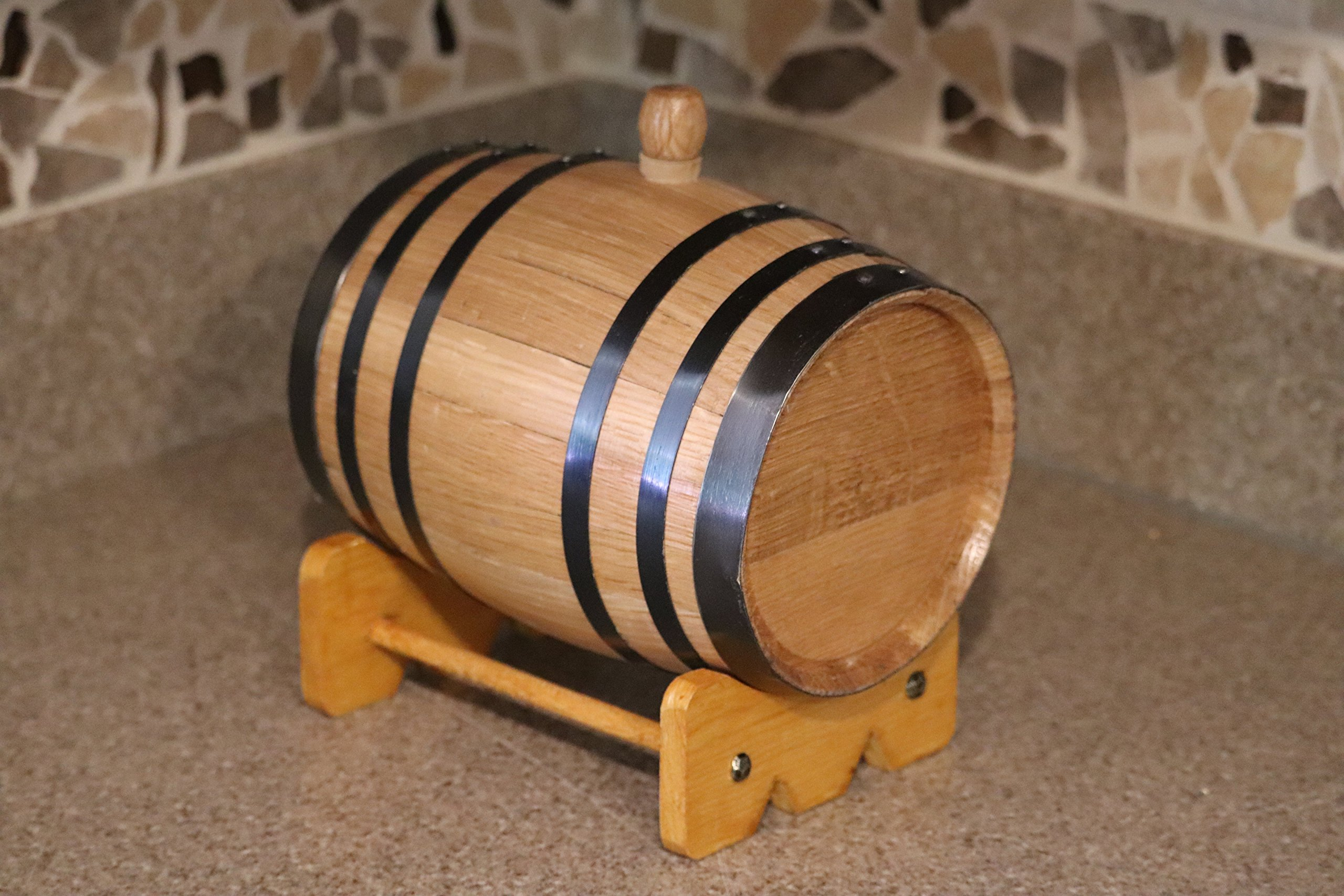Deep South Barrels Personalized Oak Barrel | American White Oak | Custom Laser Engraved | Dispenser for Aging Whiskey, Rum, Tequila, Bourbon, Vinegar and Wine by Deep South Barrels (Image #6)