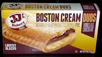 Jjs Bakery Lightly Glazed Snack Pies 4oz Pack Of 6 Boston Cream