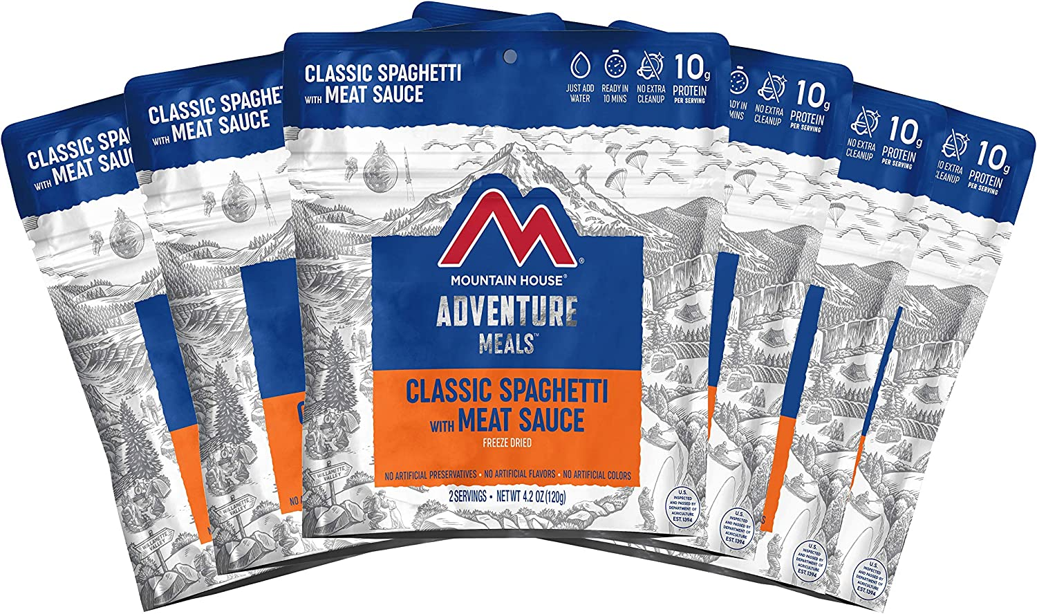 Mountain House Classic Spaghetti with Meat Sauce | Freeze Dried Backpacking & Camping Food | Survival & Emergency Food