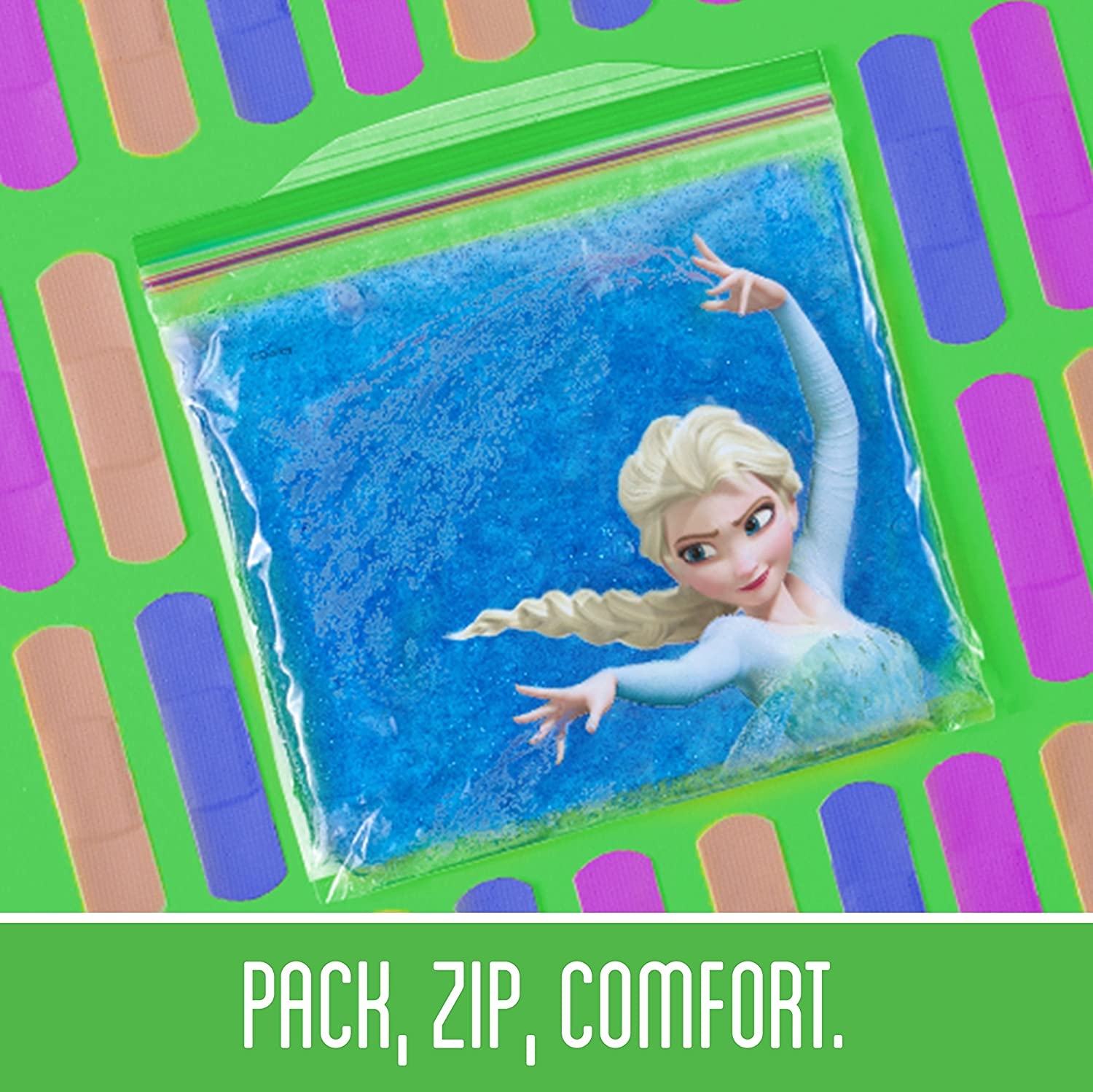 Amazon.com: Ziploc Brand Sandwich Bags featuring Disney Frozen Designs, 66 ct: Health & Personal Care