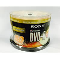 Sony 4.7 GB DVD-R Media 50 Pack ( Scratch Proof )