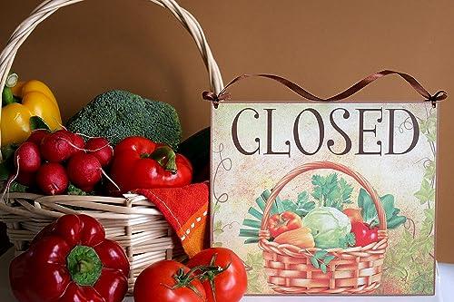 Welcome/Closed - o abierto/cerrado, cartel colgante de ...