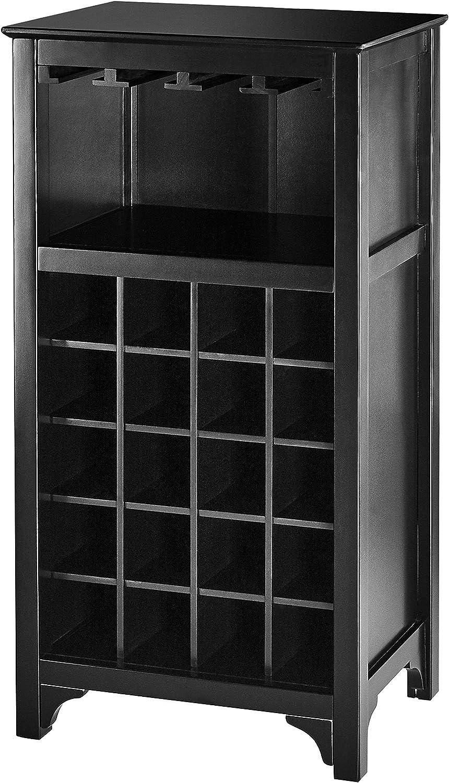 Muse Home 20-Bottle Wine Cabinet with Glass Rack - Black 141[並行輸入]