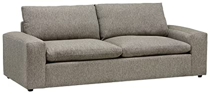 Stone U0026 Beam Hoffman Down Filled Performance Sofa, 97u0026quot;W, Grey Tweed
