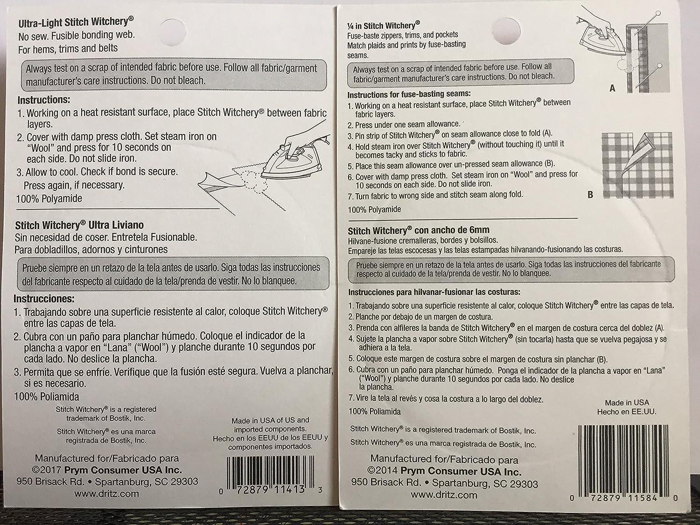 Amazon Com Bundle Stitch Witchery Hemming Tape 5 8 Ultra