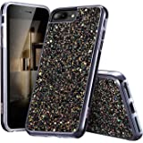 """ESR iPhone 7 Plus Case,iPhone 6 Plus Case, Glitter Sparkle Dual Layer Shockproof Hard PC Back + TPU Inner Shell for 5.5"""" iPhone 7 Plus/6 Plus(Black)"""