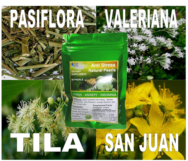 Amazon.com: Stress Insomnia Anxiety Pearls Herbal Natural Health Remedy Pasiflora Valeriana Tila (60 Pearls) ALKAVITA: Health & Personal Care