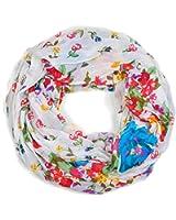 styleBREAKER Loop Schlauchschal mit Blumen Print 01014012
