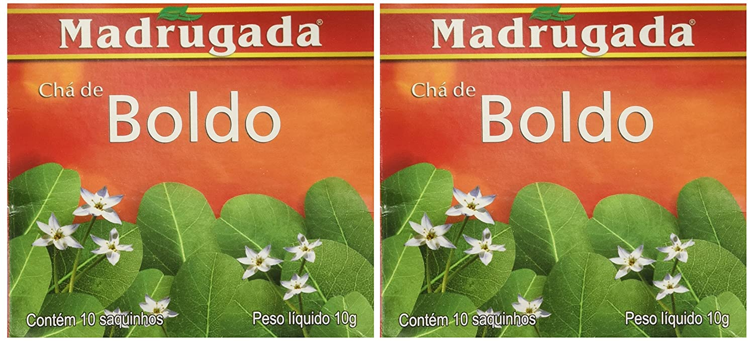 Amazon.com : Madrugada - Boldo Tea 10 tea bags - 0.5oz (PACK OF 02) | Chá de Boldo - Herb 10 sachês -15g : Fruit Juices : Grocery & Gourmet Food
