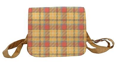 d23bf9193a Vietsbay Tartan Pattern-4 Printed Crossbody Shoulder Canvas Casual Bag  WAS 24