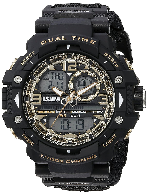 Wrist Armorメンズ米国海軍' ' Quartz Black Casual Watch (Model : 37400019 ) B01AM7U7XA