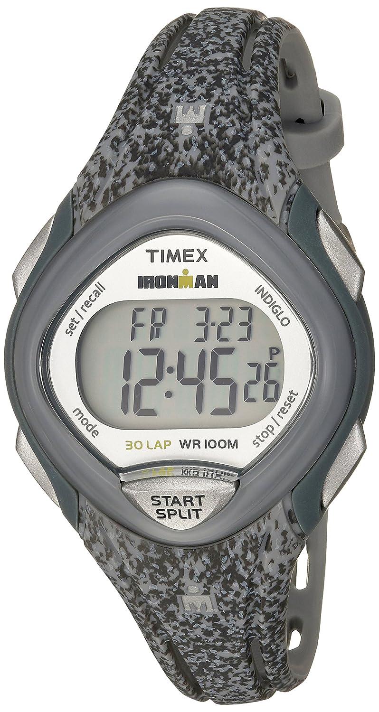 Amazon Timex Womens Tw5m08600 Ironman Sleek 30 Gray Speckled