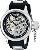 Invicta Men's 1088 Russian Diver Stainless Steel and Black Polyurethane Skeleton Watch