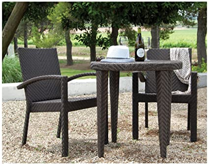 Superbe Hospitality Rattan 3 PC SET 903 D Soho 3 Piece Dining Bistro Group