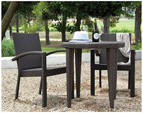 Hospitality Rattan 3 PC SET 903 D Soho 3 Piece Dining Bistro Group. Amazon com   Hospitality Rattan 3 PC SET 903 D Soho 3 Piece Dining