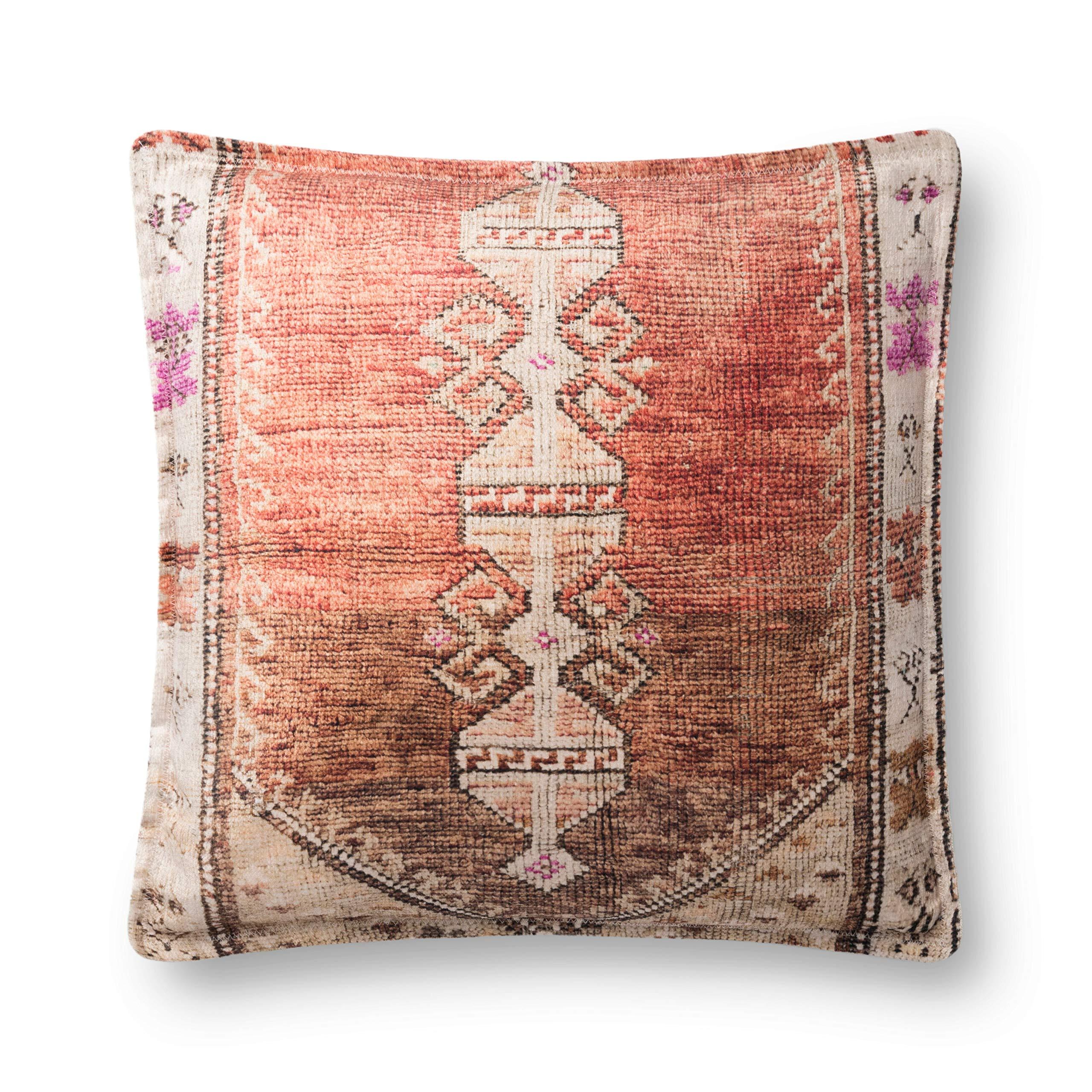 Loloi Decorative Pillow, Rust/Multi by Loloi