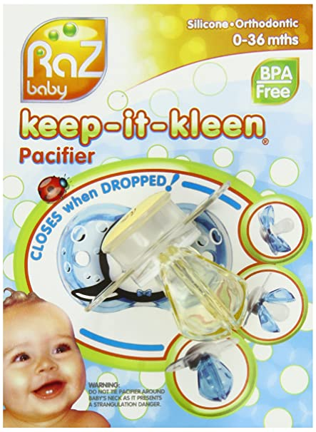 RaZbaby Keep-it-Kleen Pacifier - Lolla Ladybug