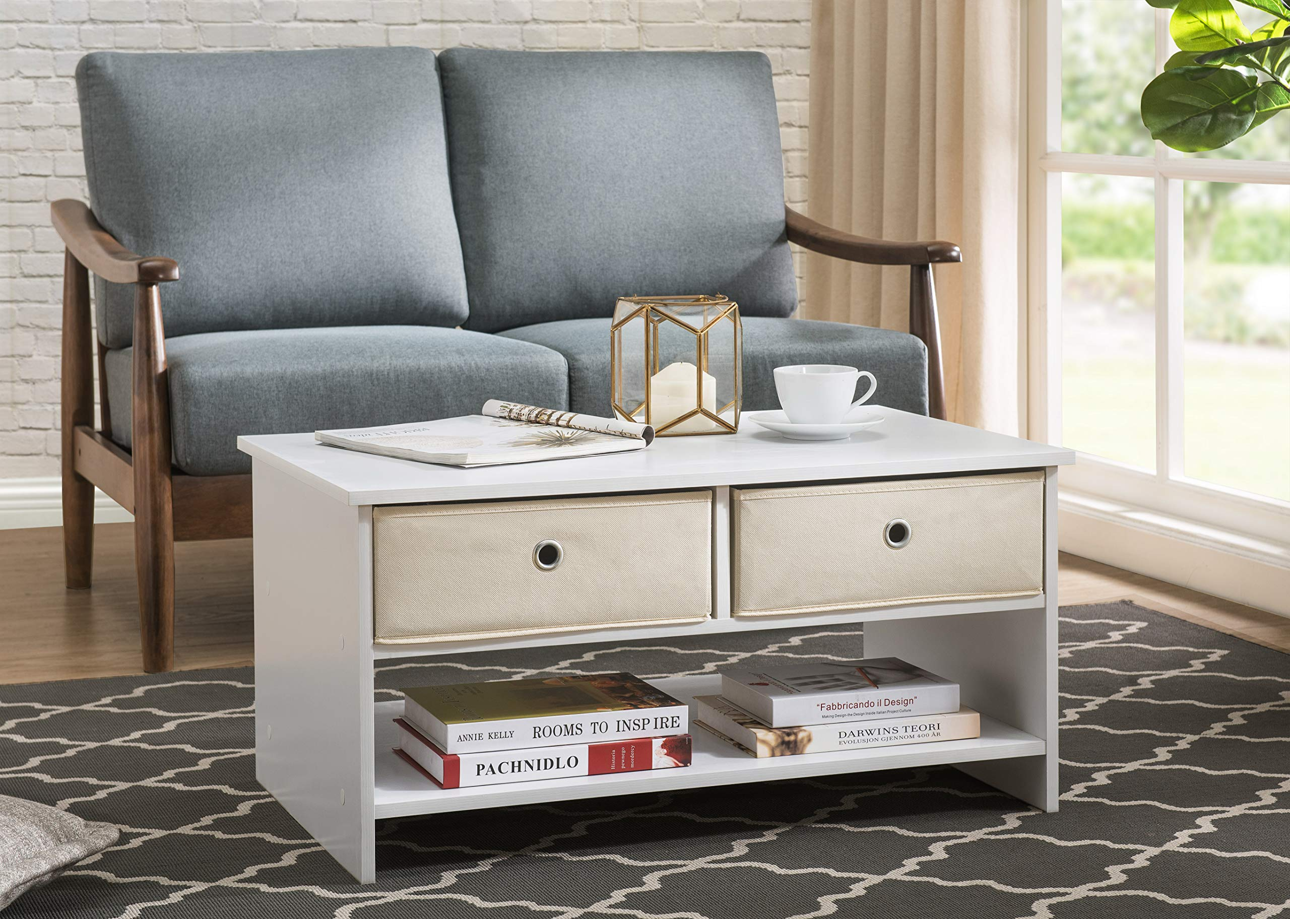 2L Lifestyle B12400004-W Westfield Coffee Table, White by 2L Lifestyle