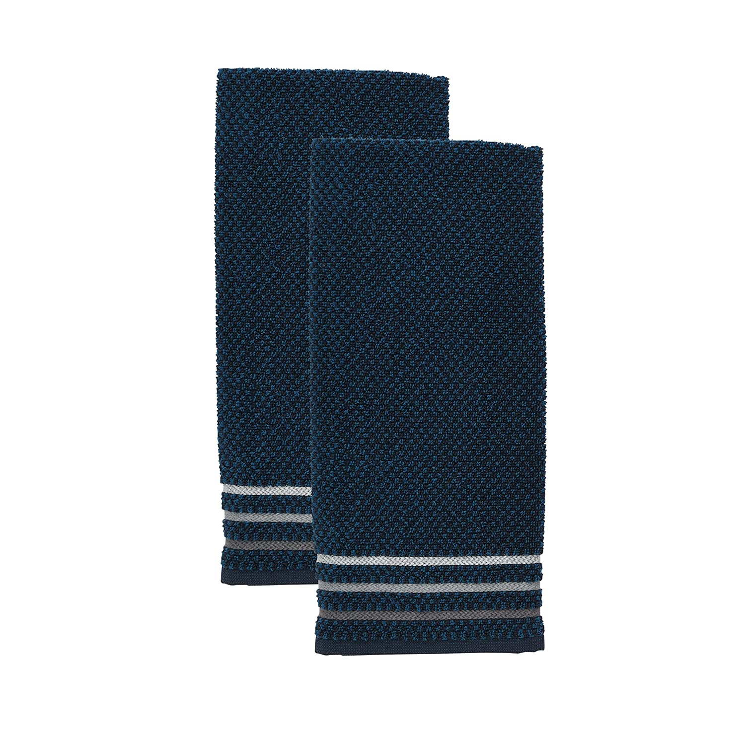 Kitchenaid Checkerboard Kitchen Towel Ink Blue TOWN /& COUNTRY LIVING 150077KT2 401 One Size