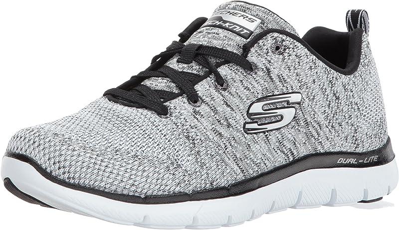 Skechers Flex Appeal 2.0 High Energy Sneakers Damen Schwarz Weiß