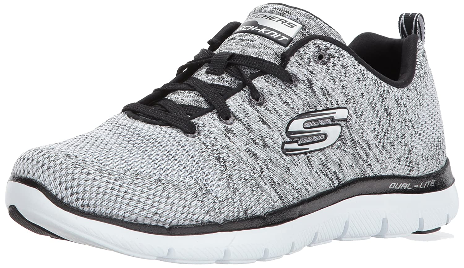 Skechers Women's Flex Appeal 2.0 Sneaker B01N4W0CE4 8.5 W US|White/Black