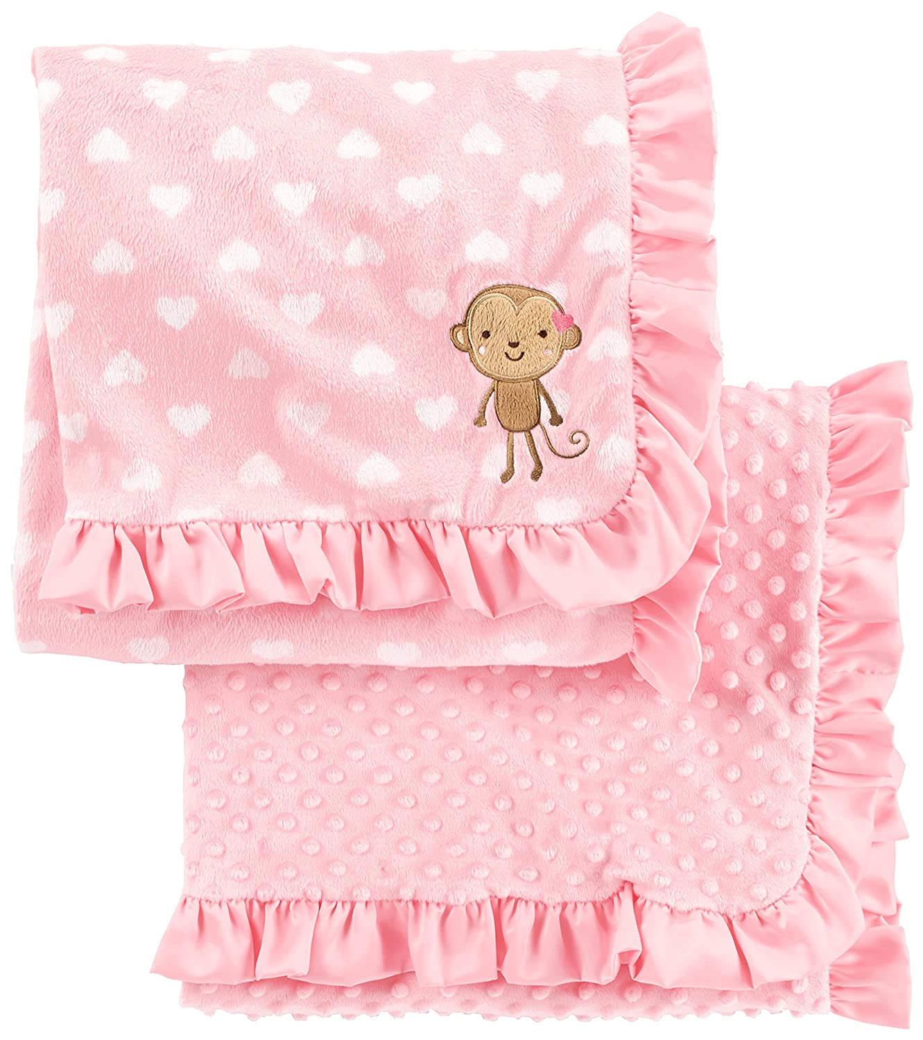 Simple Joys by Carter's Baby Girls' 2-Pack Plush Blankets Simple Joys by Carter's A26G027