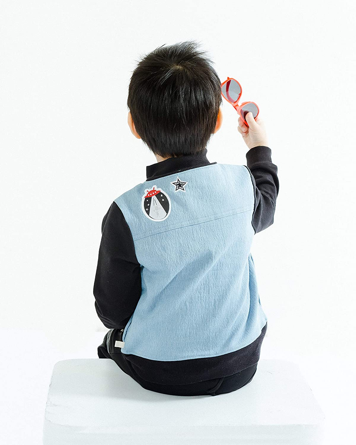 Kinderkind Boys Mixed Media Patchwork Jacket and Pant Set Sizes 2T-3T-4T-5T-6-7