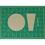 "Dresden Plate Straight Quilting Templates with 1/4"" Seam Allowance - 16"" Block - 2 Piece Acrylic Template Set"