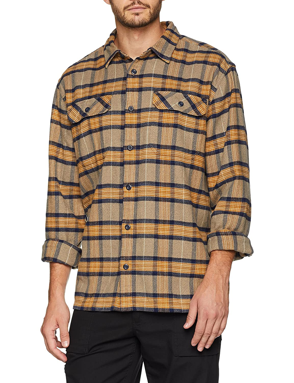 TALLA 2XL. Patagonia M's L/S Fjord Flannel Camisa, Hombre