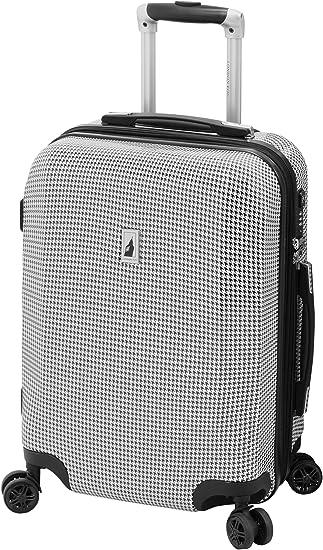 black white houndstooth London Fog Cambridge II Softside Expandable Spinner Luggage