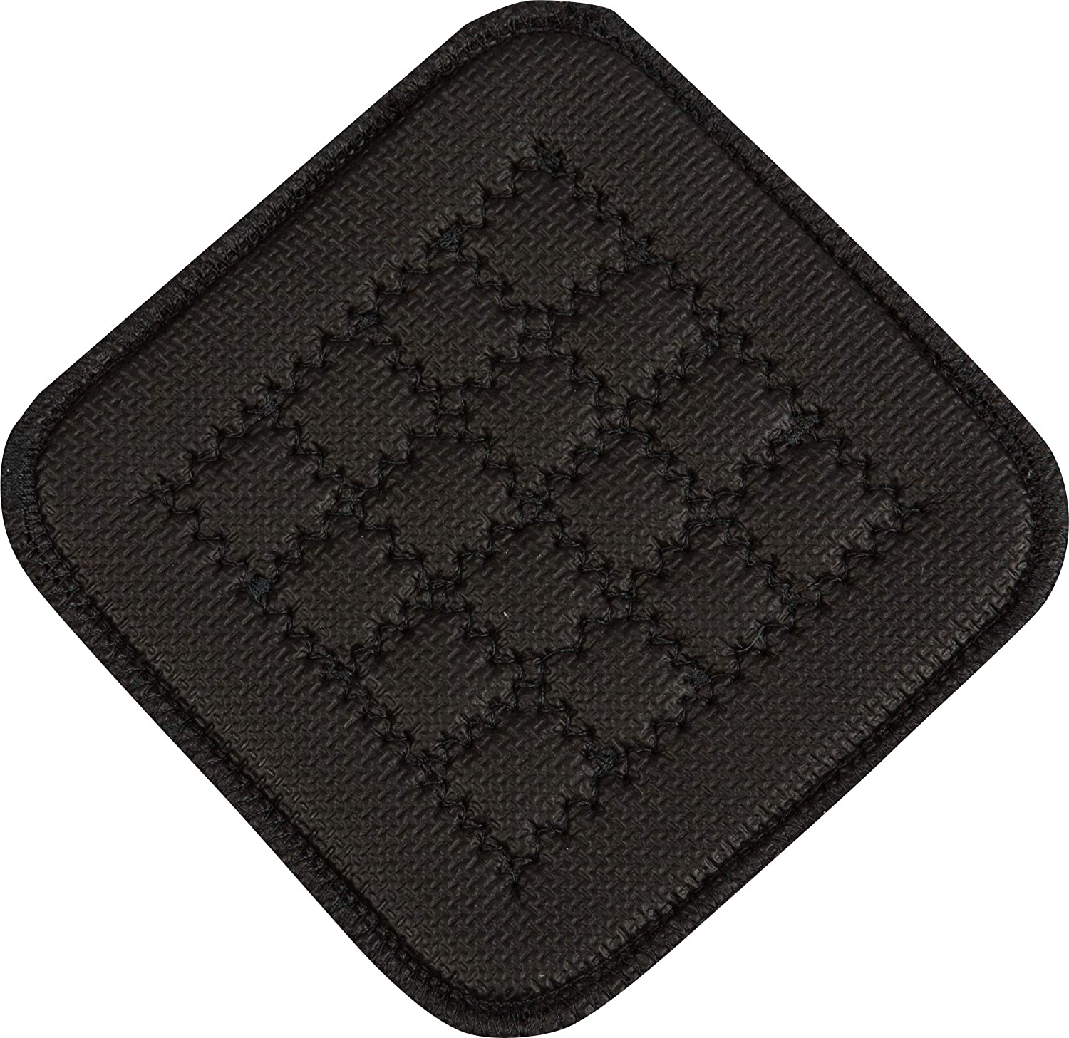 "San Jamar UHP77BK Ultigrip Square Commercial Hot Pad Pan Holder, 7"" X 7"", Black: Industrial & Scientific"