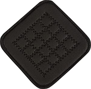 "San Jamar UHP55BK Ultigrip Square Commercial Hot Pad Pan Holder, 5"" X 5"", Black"