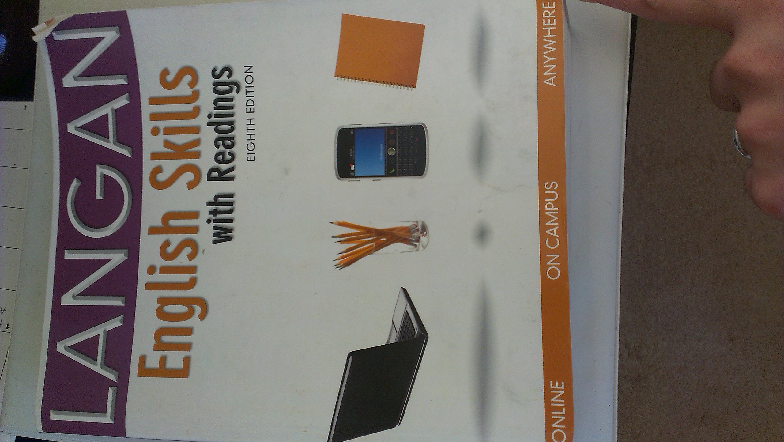 Langan english skills with readings eighth edition aa 9780073371689 amazon com books