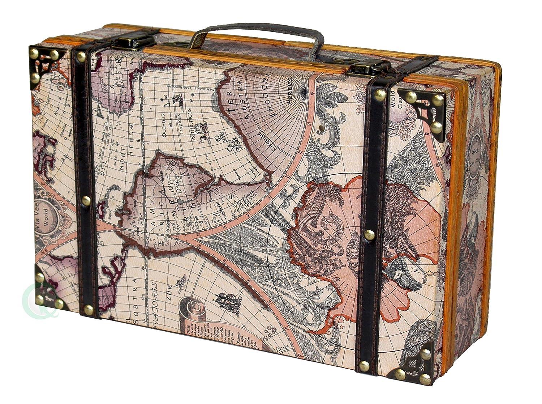 Amazon Com Vintiquewise Tm Old World Map Suitcase Decorative Box