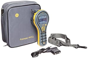 "GE Protimeter BLD8800 MMS2 4-In-1 Moisture Meter Measurement System, LCD Display, 8 to 99% Range, 15 to 120 Degrees F Temperature Range, 7"" Length x 2-3/4"" Width x 1.9"" Height"