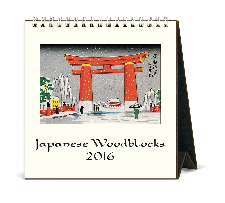 amazon com cavallini papers co cal16 6 2016 japanese woodblocks