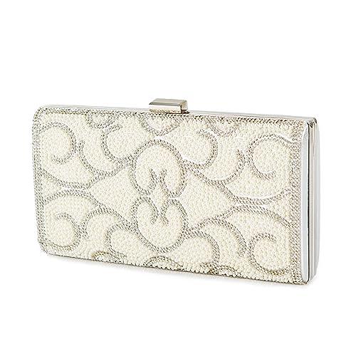 ca0b25c11bb Amazon.com: Gatsby Bridal Purse - pearls and Crystals Embellished ...