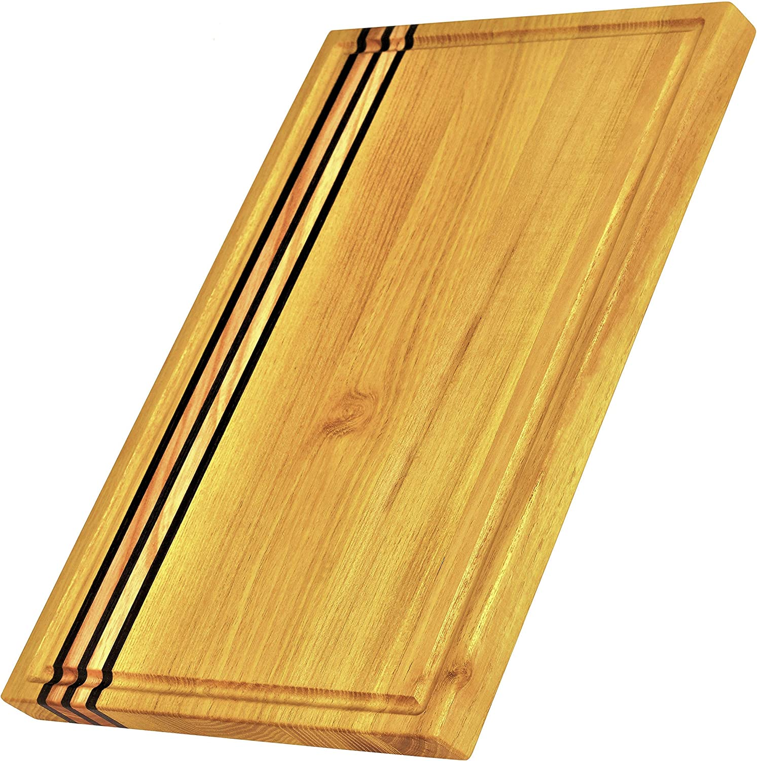 Large Multipurpose Wood Cutting Board Made From Acacia: 16x10x0.7 Cutting Board With Juice Groove For Yours Kitchen. Universal Chopping Board Wood. Eco Friendly Large Chopping Board.