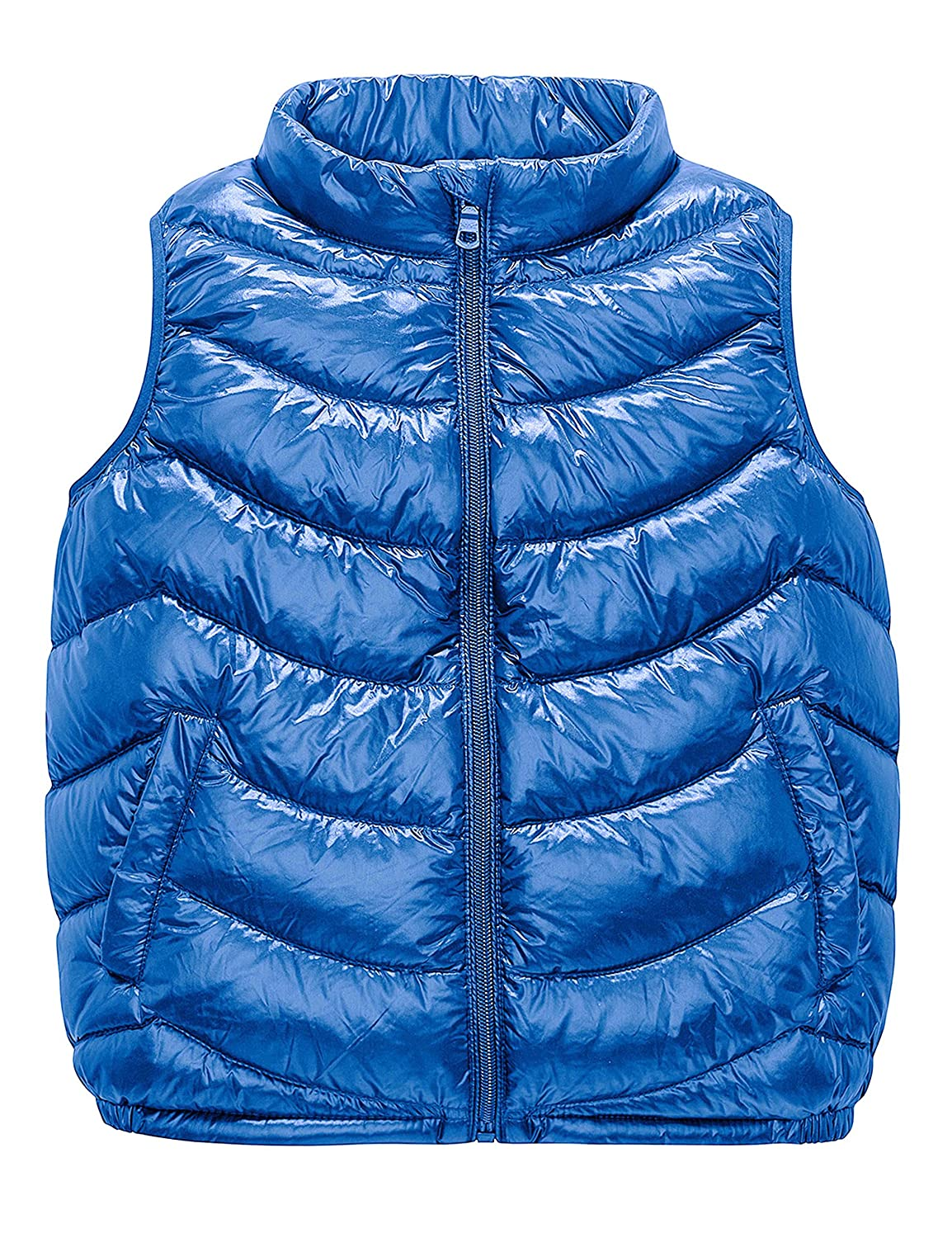 IKALI Kids Packable Ultralight Down Gilet with Collar