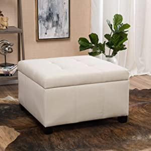 Christopher Knight Home Living Richmond Beige Fabric Storage Ottoman