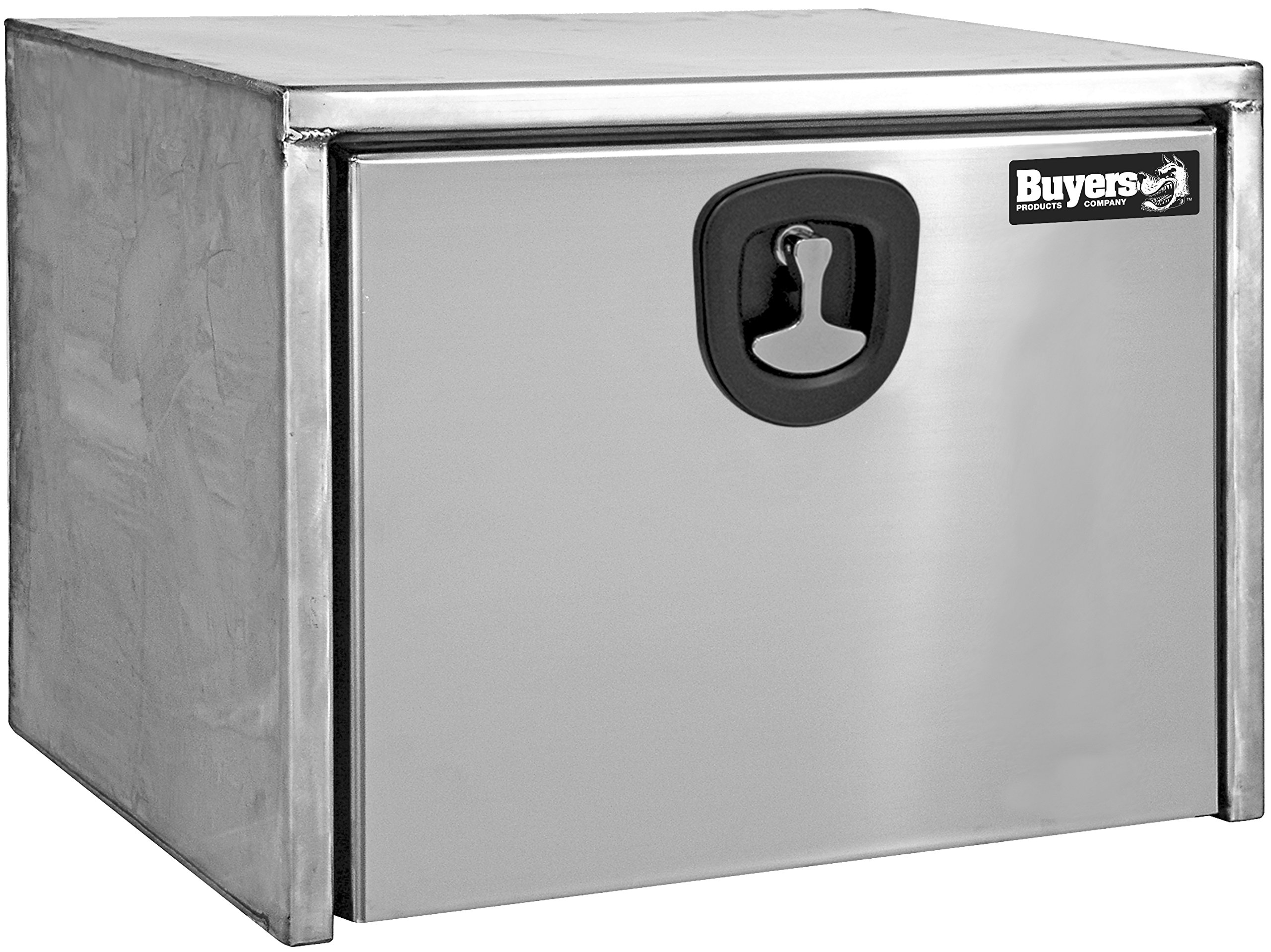 Buyers Products Stainless Steel Underbody Truck Box w/Polished Stainless Steel Door (18x18x18 Inch) by Buyers Products