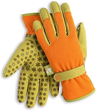 Leather Work Gloves Heavy Duty Gardening Waterproof Adjustable Comfort Outdoor
