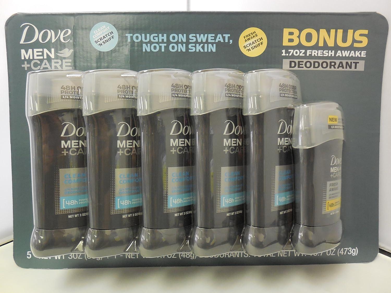 Dove Men Plus Care Invisible Solid Deodorant, 3oz (Pack of 5)