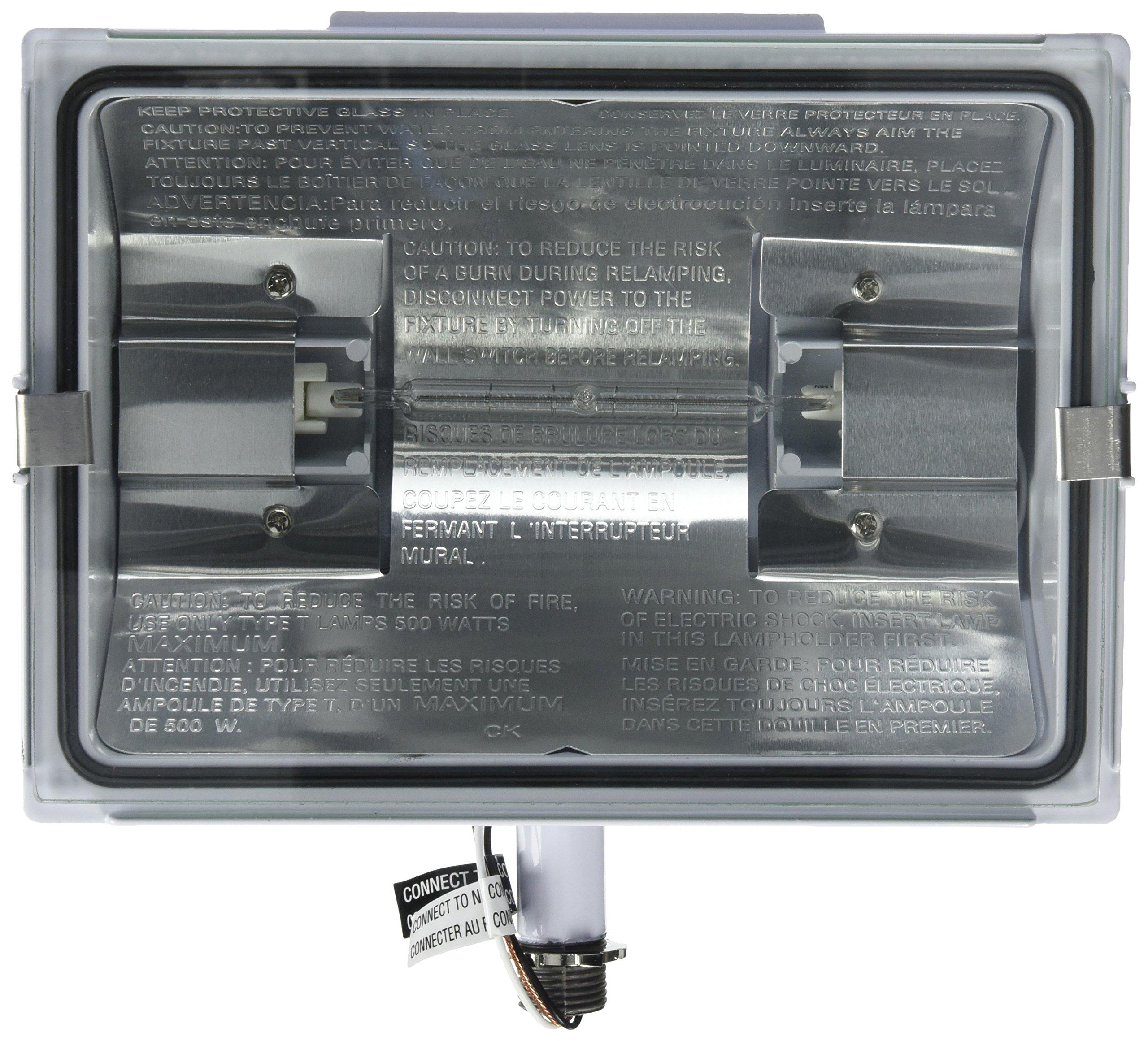 HEATHCO HZ-5505-WH 500W White Flood Light