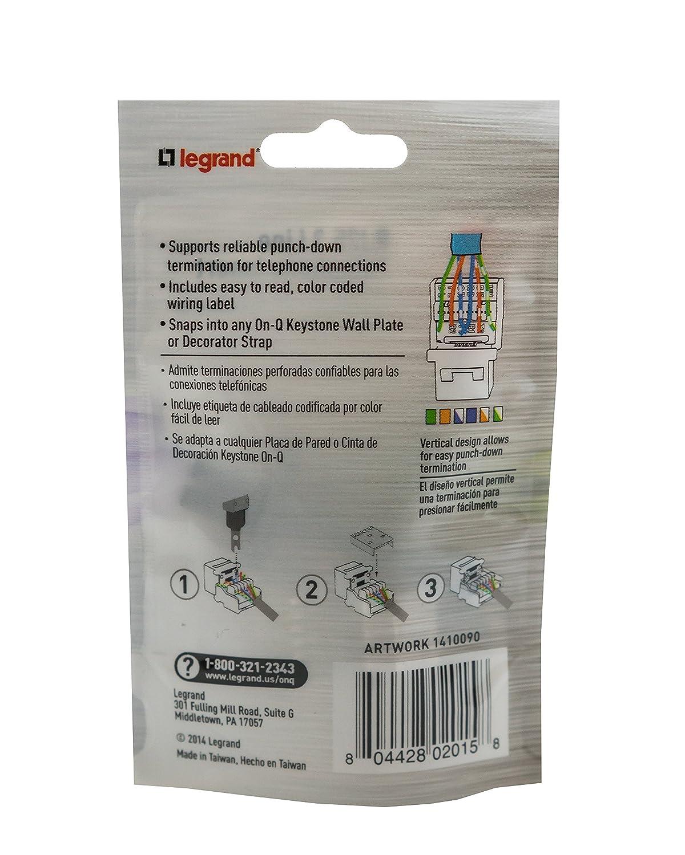Legrand - On-Q Phone Keystone Jack, F9042WHV1 RJ25 - Home Security Systems - Amazon.com